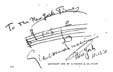 1910 Signature by Giacomo Puccini to the New York Times