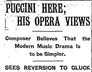 1910 New York Times Article about Puccini's Visit to the Premiere of La Fanciulla Del West
