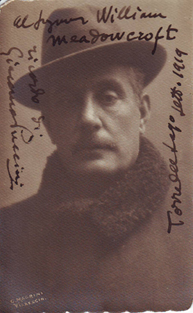 Photo that Puccini autographed to William H. Meadowcroft, a colleague of Thomas Edison, whom he met in New York in 1907.