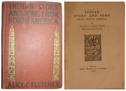 "Puccini's personal copies of  Alice C. Fletcher's ""Indian Story and Song from North America"" (Boston:  Small, Maynard and Co., 1906)."